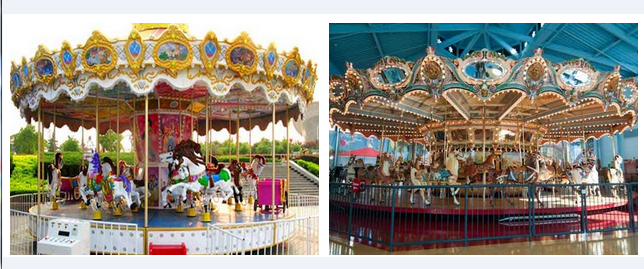 Fairground carousels for sales