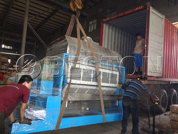 Egg Tray Machine Shipping to Dominica